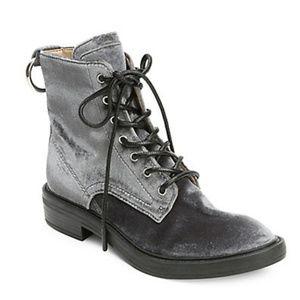 NWT Dolce Vita Bardot Lace-Up Velvet Boot